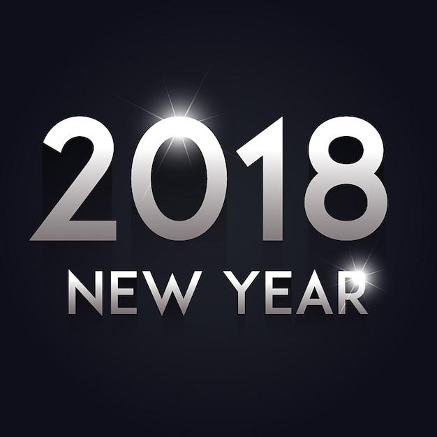Fundo vector new year 2018 Vetor grátis