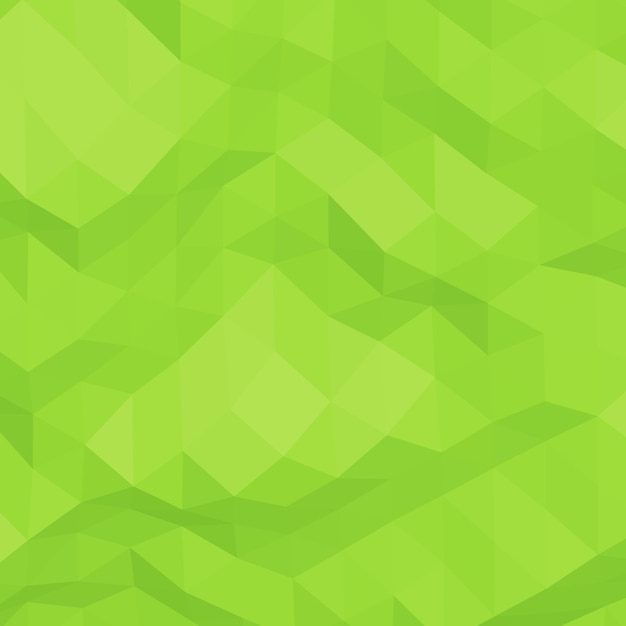 Fundo verde abstrato geométrico amarrotado triangular baixo poli Vetor Premium