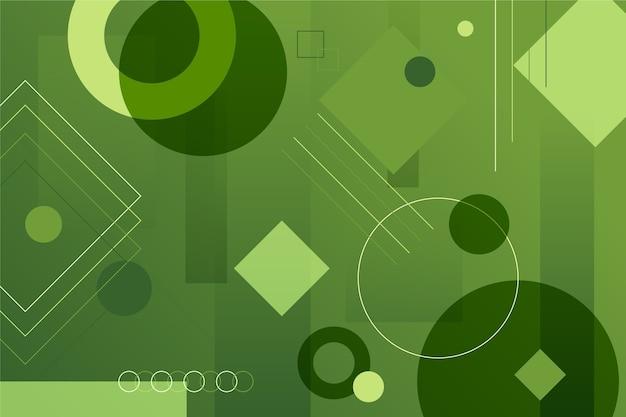 Fundo verde abstrato geométrico Vetor grátis