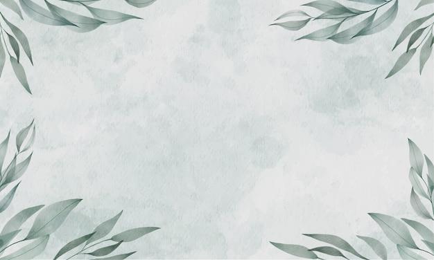 Fundo verde aquarela Vetor grátis