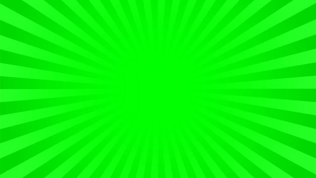 Fundo verde brilhante raios Vetor Premium