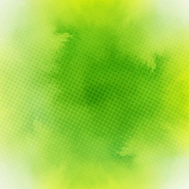 Fundo verde da aguarela Vetor grátis