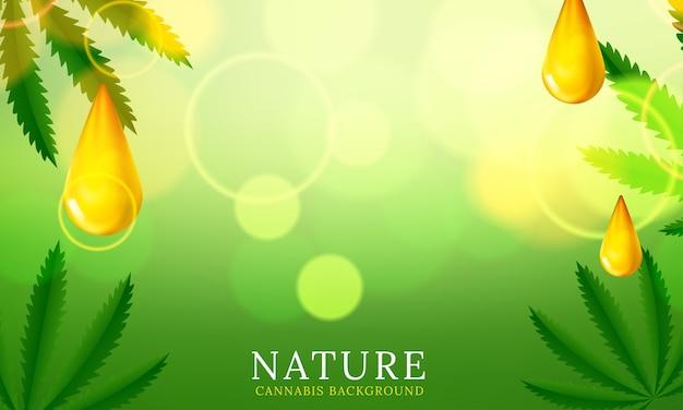 Fundo verde da planta de cannabis. ilustração vetorial Vetor grátis