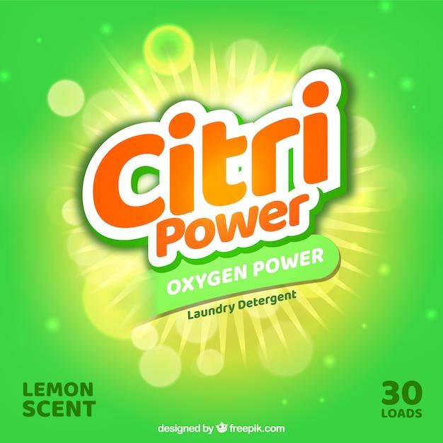 Fundo verde de detergente Vetor grátis
