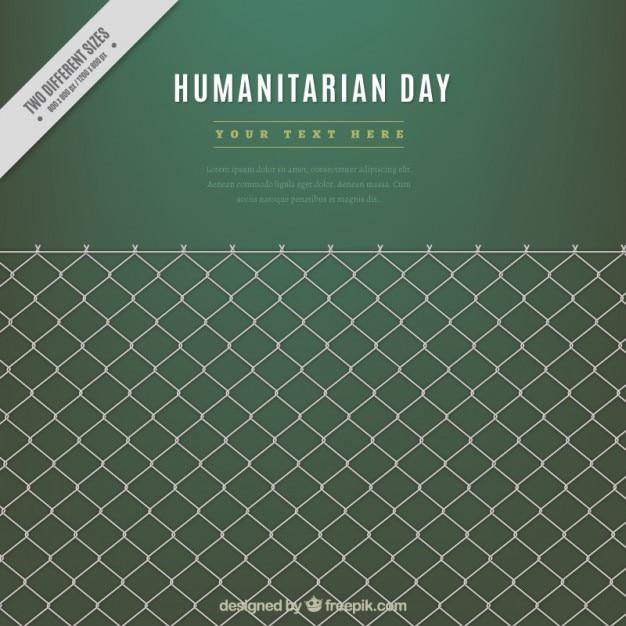 Fundo verde dia humanitária com uma grade Vetor grátis