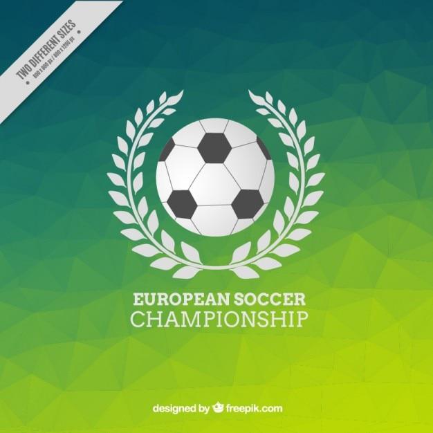 Fundo verde poligonal do campeonato de futebol europeu Vetor grátis