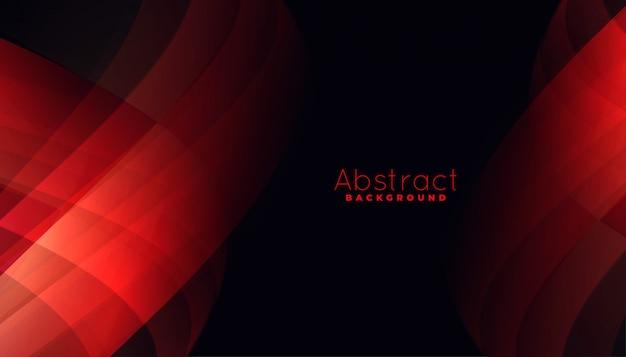 Fundo vermelho abstrato com formas de linhas curvas Vetor grátis
