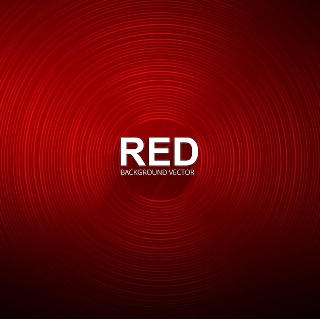 Fundo vermelho circular brilhante abstrato Vetor grátis