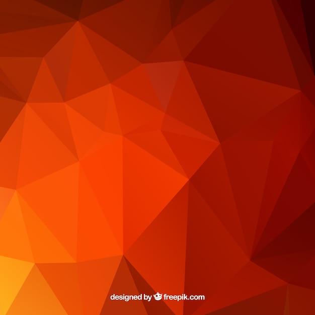 Fundo vermelho com formas abstratas Vetor grátis
