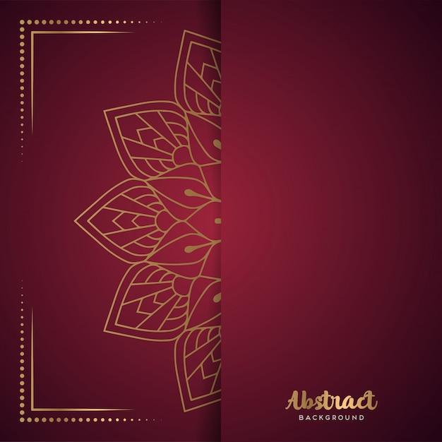 Fundo vermelho com mandala de flor Vetor grátis