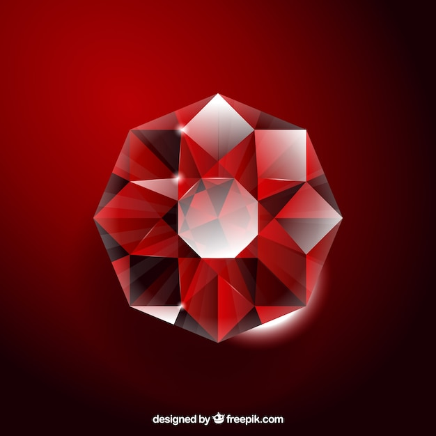 Fundo vermelho gemstone Vetor grátis