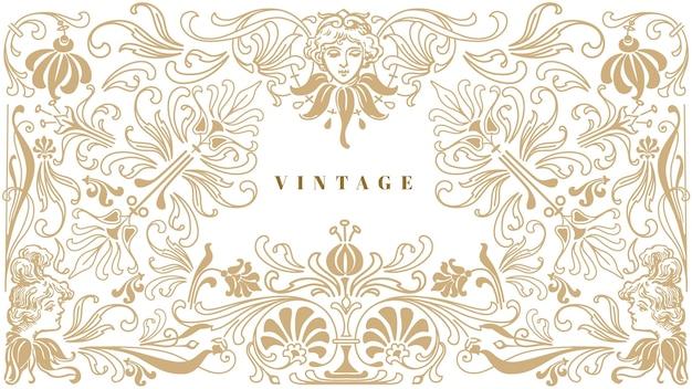 Fundo vintage ornamental Vetor grátis