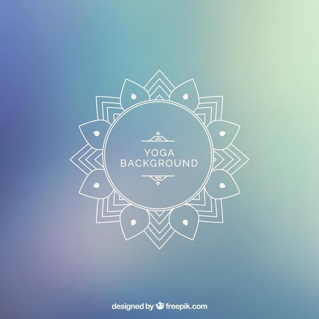 Fundo yoga Vetor grátis
