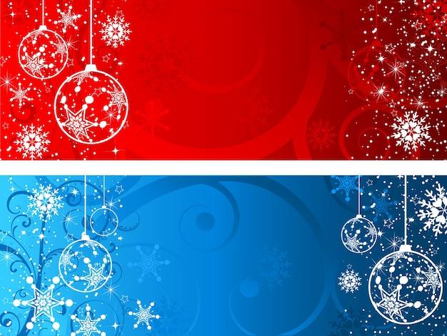 Fundos decorativos de natal Vetor grátis
