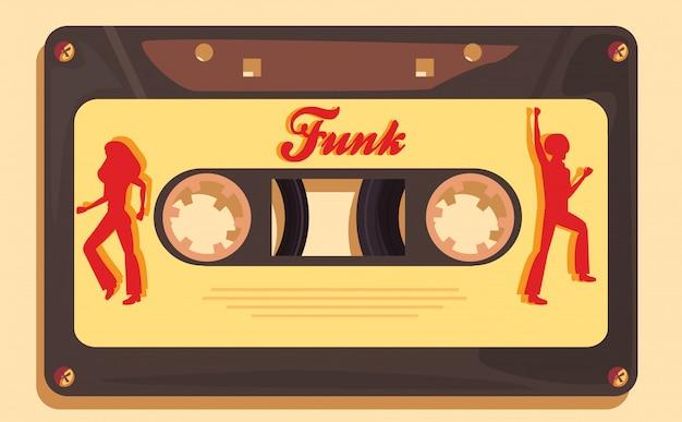 Funk cassette music Vetor Premium
