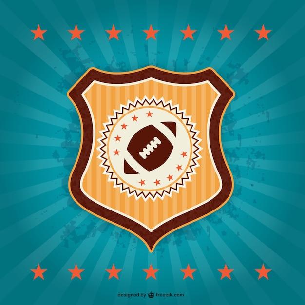 Futebol americano emblema crachá retro  0b481a1b19827