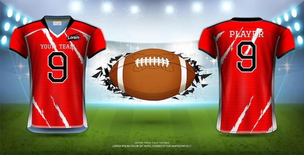 Futebol americano Vetor Premium