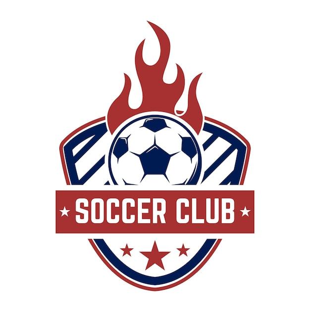 Futebol, emblemas de futebol. Vetor Premium