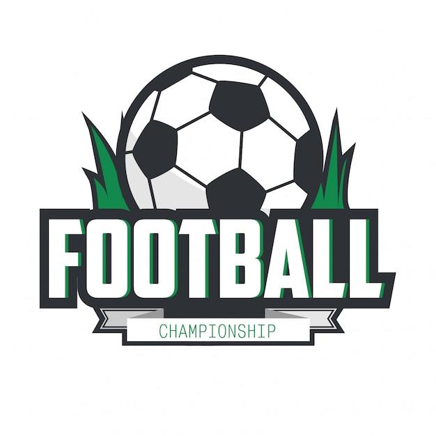 Futebol futebol emblema logotipo design template. Vetor Premium