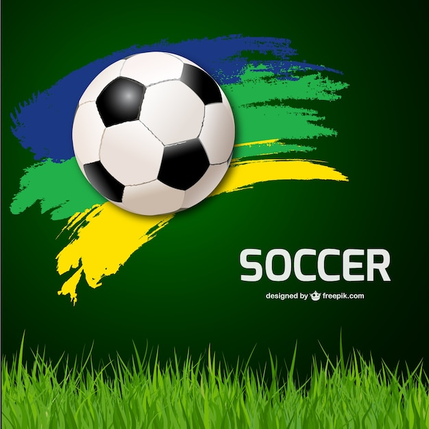 Futebol vector background Vetor grátis