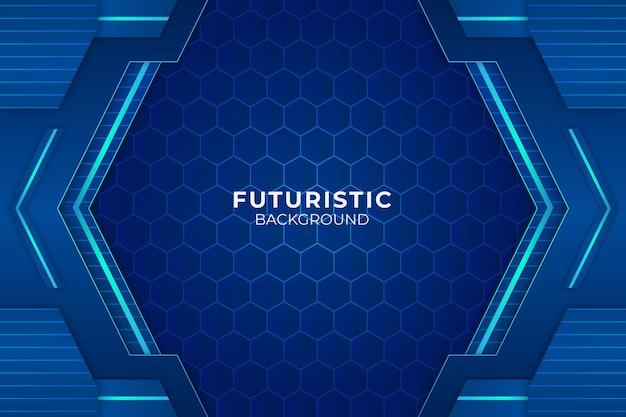 Futurista fundo azul Vetor Premium