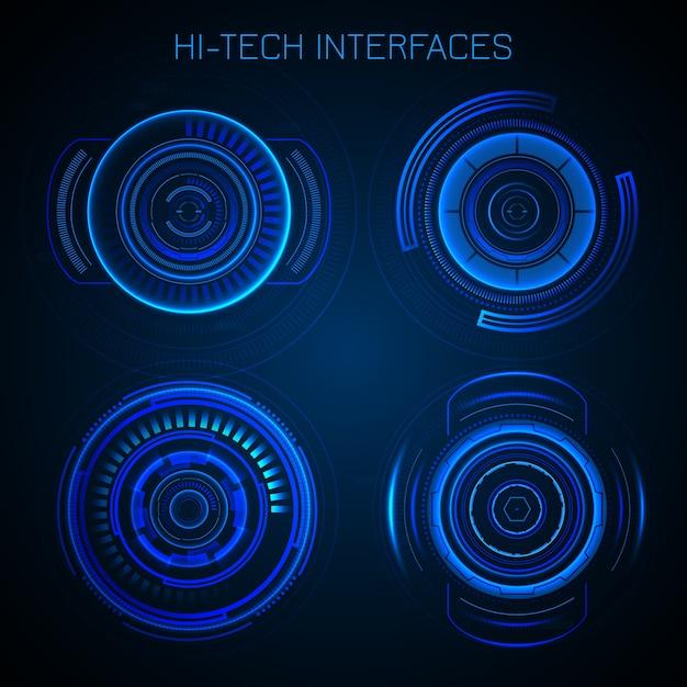 Futuristic hud interface Vetor grátis