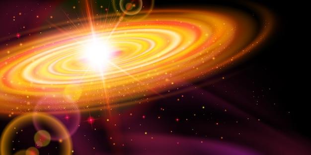 Galáxia laranja Vetor Premium