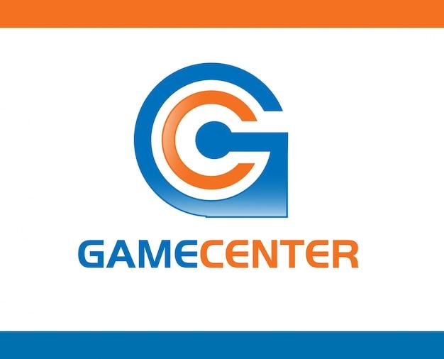 Gamecenter logo template design vector Vetor Premium