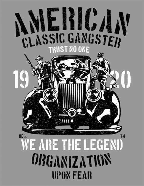 Gângster clássico americano Vetor Premium