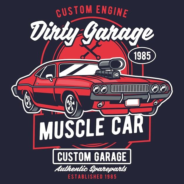 Garagem suja Vetor Premium