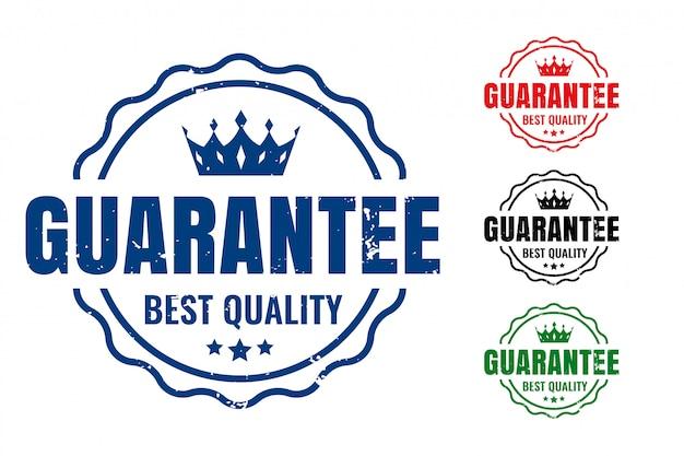 Garantir carimbos de borracha da melhor qualidade em quatro cores Vetor grátis