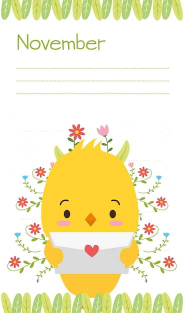 Garota com carta de amor, animais fofos, plano e estilo cartoon, ilustração Vetor grátis