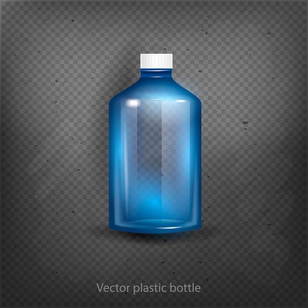 Garrafa de água de plástico vazia beber ilustração vetorial de objeto isolado Vetor Premium