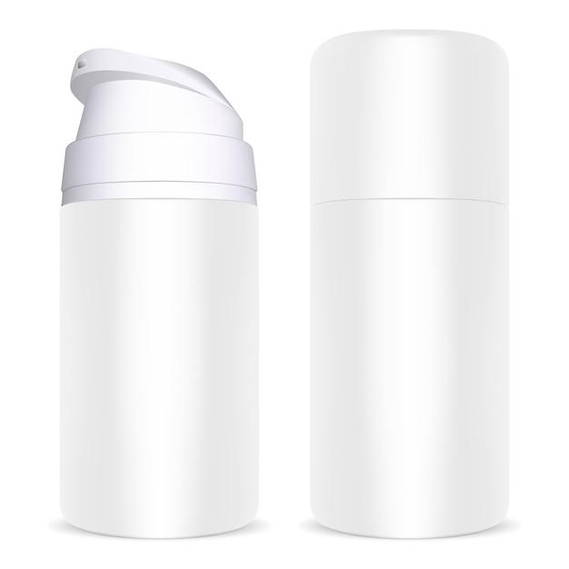 Garrafa de dispensador de espuma de barbear Vetor Premium
