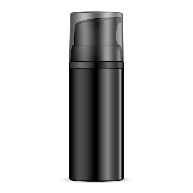 Garrafa de dispensador de hidratante para homens negros Vetor Premium