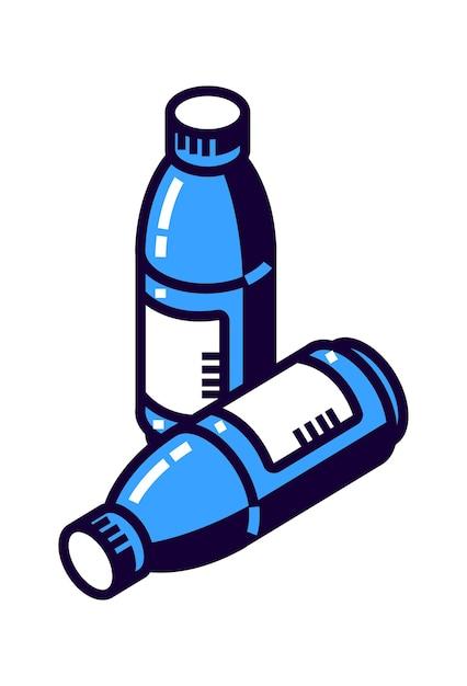 Garrafa de plástico para água mineral ou outras bebidas Vetor grátis