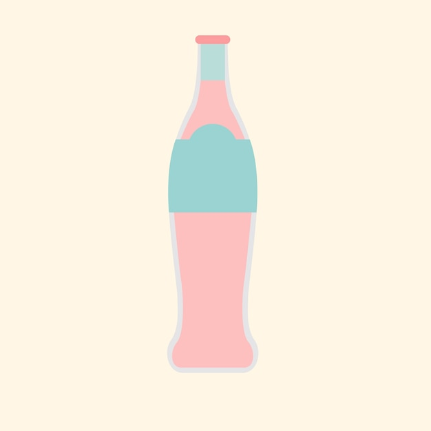 Garrafa de refrigerante Vetor grátis