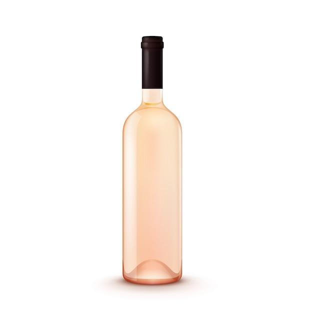 Garrafa de vinho de vidro de vetor Vetor Premium