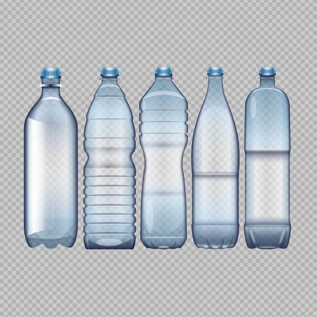 Garrafas de água diferentes Vetor grátis