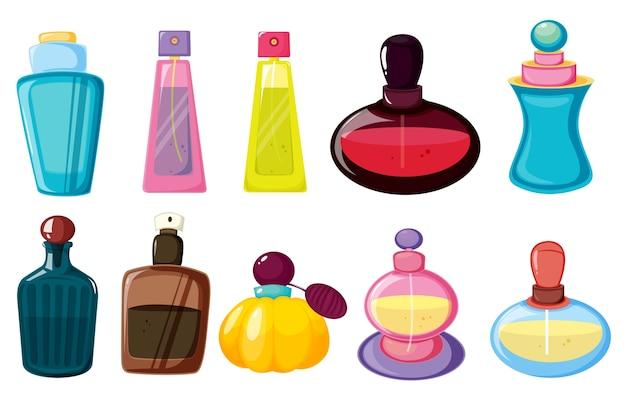 Garrafas de perfume Vetor grátis