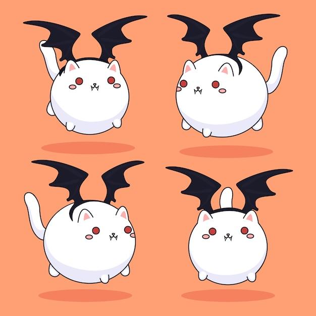 Gatos vampiros Vetor Premium