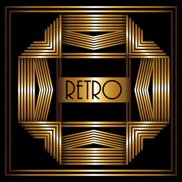 Gatsby design Vetor Premium