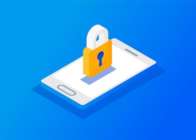 Gdpr - regulamento geral de proteção de dados. cabeçalho e plano de banner da web Vetor Premium