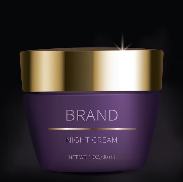 Gel cosmético noturno para cuidados com a pele dos olhos Vetor grátis