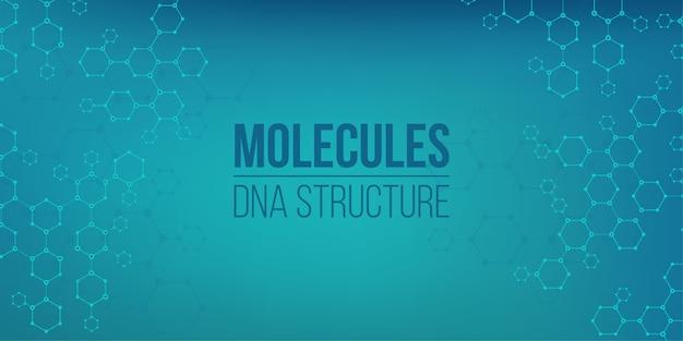 Genoma de conexão de codificação de estrutura molecular. Vetor Premium