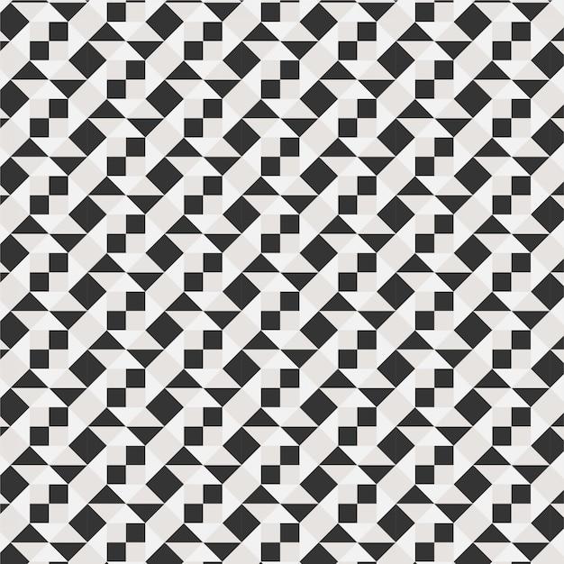 Geométrico diamante telha mínimo moderno gráfico padrão triângulo linha 3d vetor padrão cor preto e branco Vetor Premium