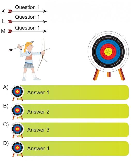 Geral - archer e arrow perguntas Vetor Premium