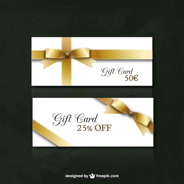 Gift card de desconto Vetor grátis