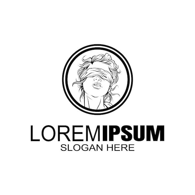 Girls logo logotipo criativo Vetor Premium