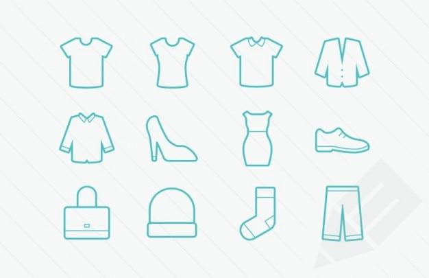 Glifos ícones de roupas vetor Vetor grátis